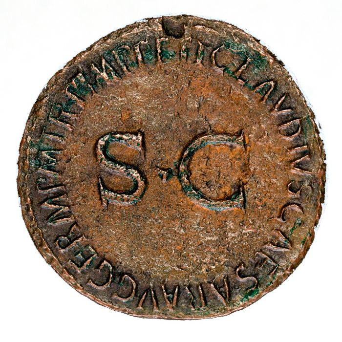 Roman Empire - As - Germanicus, father of Caligula (died AD 19). Under Claudius I (41-54 A.D.), Rome mint, 42 A.D.  - Bronze