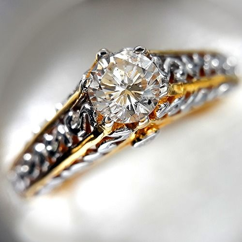 14 kt Gold - Ring - 0.52 ct Diamant - Diamanten