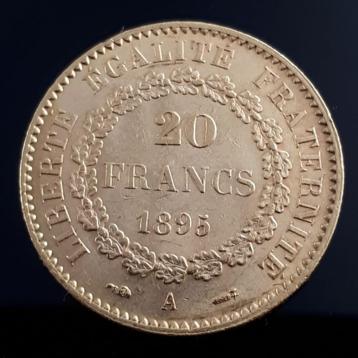 20 Francs 1895 A Genius - Or