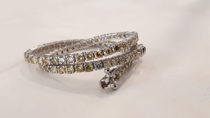 14 kt. White gold - Bracelet - 3.01 ct Diamond - Diamonds