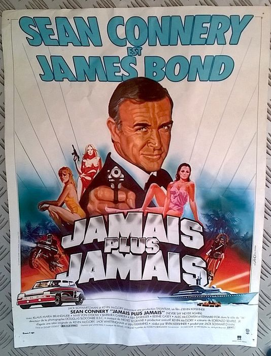 James Bond - Sean Connery - Original release 1983 french poster - Never Say Never Again