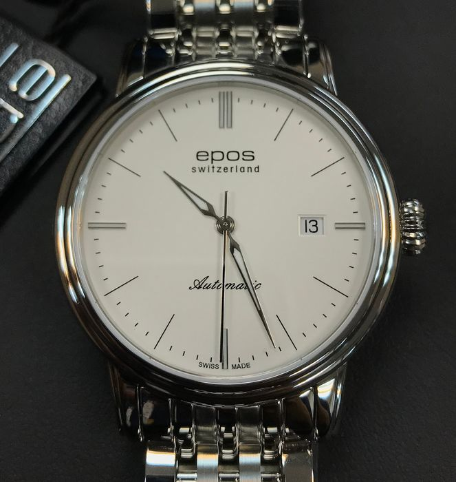 Epos - EMOTION Men's white dial automatic 41mm - 3390-S/S-WHT - Heren - 2011-heden