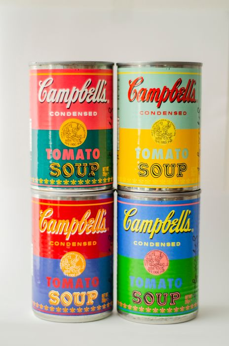 Andy Warhol - 50th anniversary Campbells Tomato Soup Cans