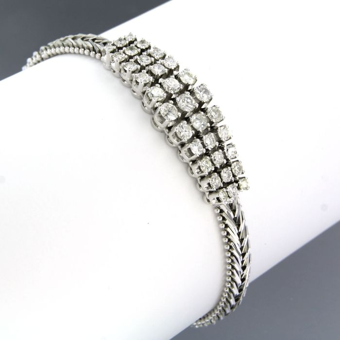 18 carats Or blanc - Bracelet - 2.00 ct Diamant