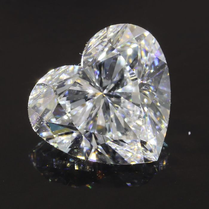 1 pcs Diamant - 2.00 ct - Hart - D (kleurloos) - VVS2 No Reserve Price