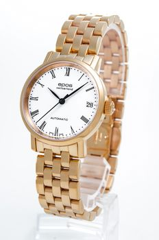 Epos - Ladies automatic watch with rose PVD - 4387-S/S-RG-WHT/BLK - Femme - 2011-aujourd'hui