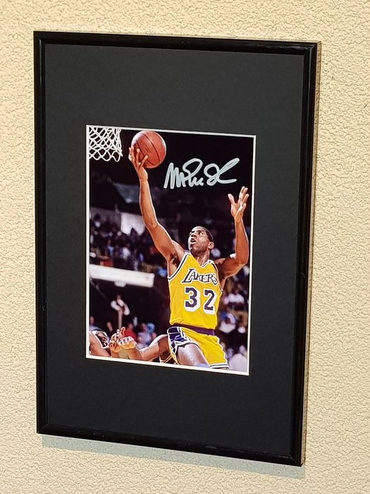 LA Lakers - Basket Ball NBA - Magic Johnson - Photographie signée par Magic Johnson