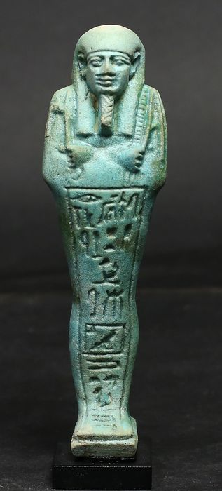 Ancient Egyptian Faience Ushabti for Ipethemetes - 150×0×0 mm - (1)