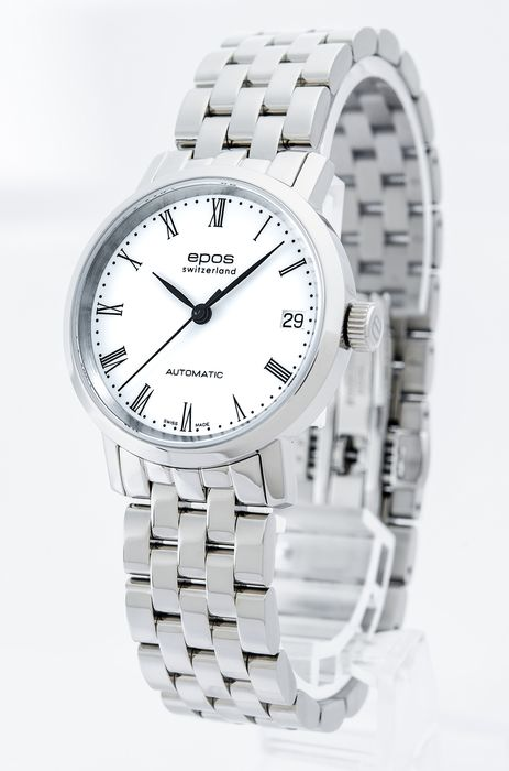 Epos - Ladies automatic watch - 4387-S/S-WHT/BLK - Women - 2011-present