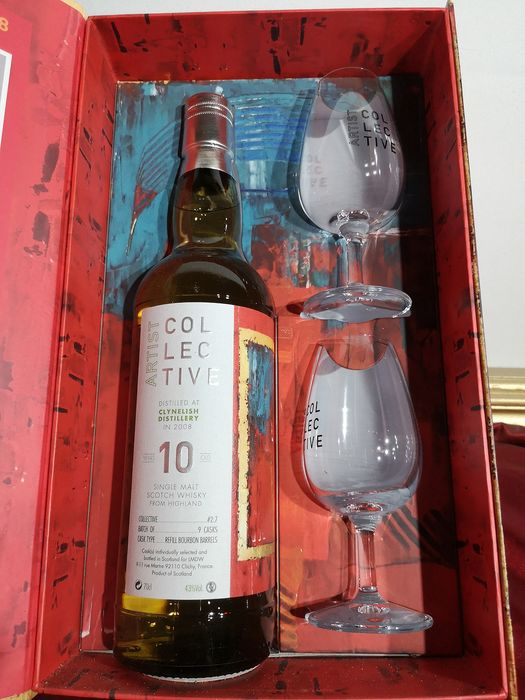 Clynelish 2008 10 years old Artist Collective with Glasses - 0.7 Ltr