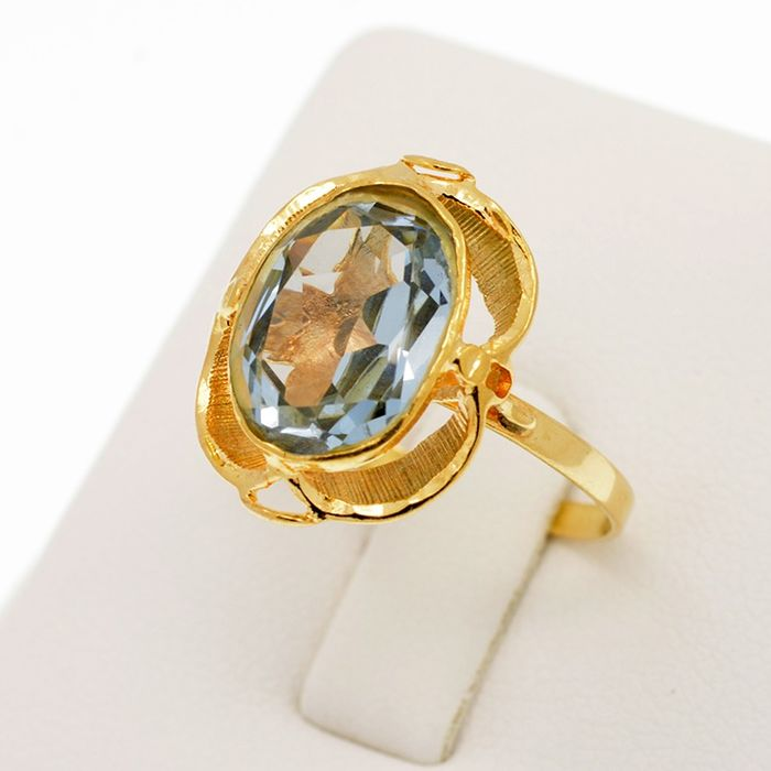 18 kt. Yellow gold - Ring - 5.00 ct Topaz