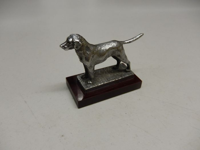 Emblema / Mascota - Vintage Original Louis Lejeune British Pointer Gun Dog Car Mascot Hood Ornament - 1940-1960