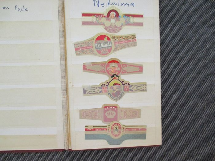 2 bands with around 1250 cigar bands - Paper - Catawiki