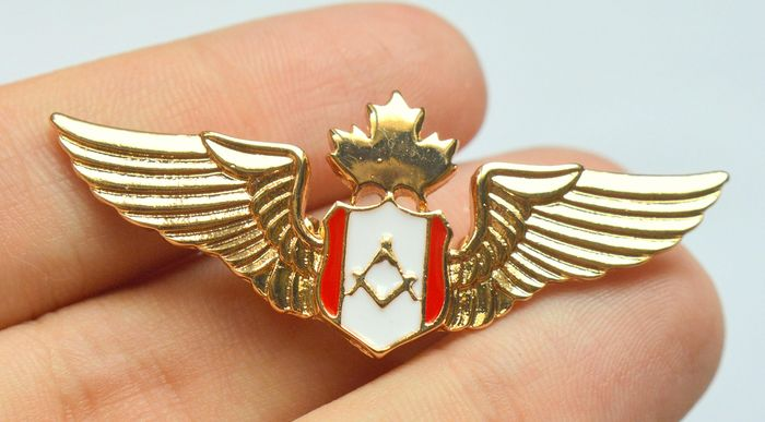 Goldplated Masonic Badge - Badges (1) - Plaqué or