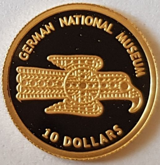 Nauru - 10 Dollars 2005 'German National Museum' - 1,24 gram - Gold