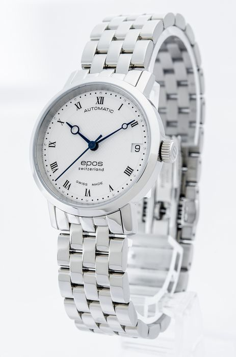 Epos - Ladies automatic watch - 4387-S/S-WHT/BLU - Women - 2011-present