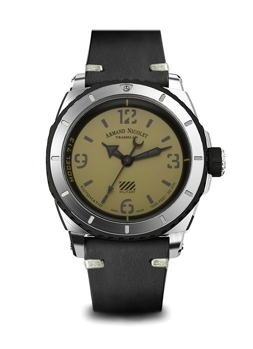 Armand Nicolet - S05-3 Military Automatik - A713PGN-VN-PK4140NR - from official dealer - Homme - 2011-aujourd'hui