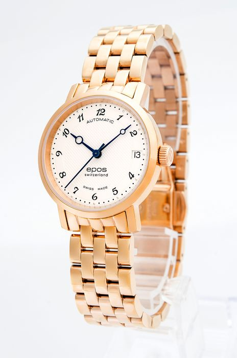 Epos - Ladies automatic watch with rose PVD - 4387-S/S-RG-WHT/ARAB - Women - 2011-present