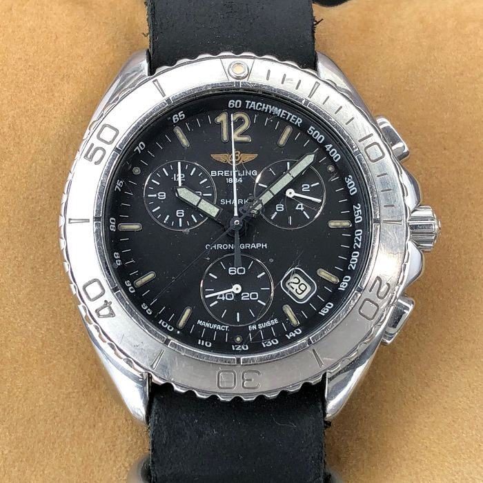Breitling - Shark Chronograph - A53605 - Heren - 1990-1999