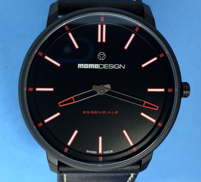"MomoDesign - Essenziale Sport Black PVD Red Tone ""NO RESERVE PRICE"" - MD6002BK-12 - Homme - BRAND NEW"