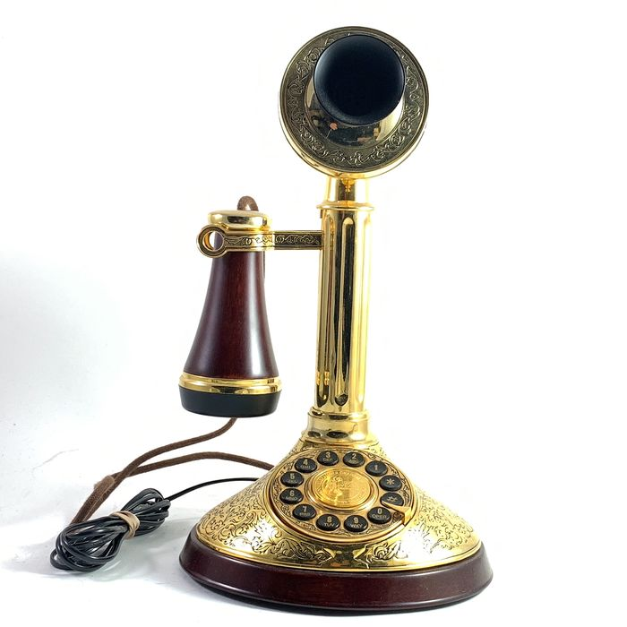 Franklin Mint - The Alexander Graham Bell  - 22 Carat gold plated in good working condition