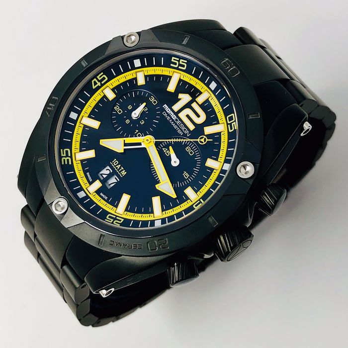 "MomoDesign - Chronograph Watch Dive Master Sport Ceramic Yellow - MD282BK-30 ""NO RESERVE PRICE"" - Homme - BRAND NEW"