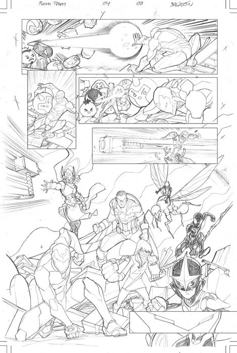 Spider-Man, All New Avengers Marvel Tsum Tsum #04 Page 08 - Original Artwork  - Loose page - First edition - (2016)