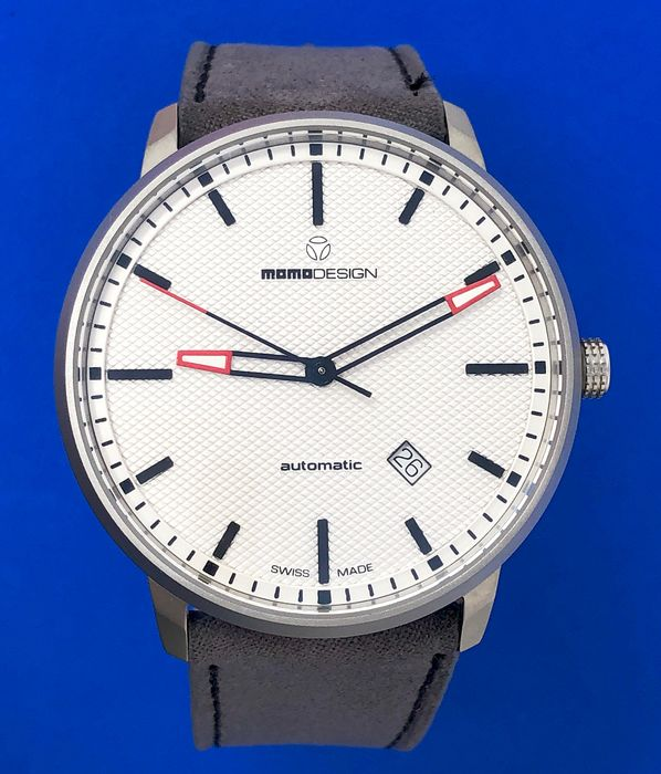 "MomoDesign - Essenziale Automatic Silver Stainless Steel Swiss Made - MD6004SS-22 ""NO RESERVE PRICE"" - Heren - BRAND NEW"