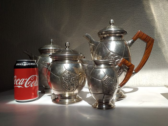 Coffee service (5) - Silver plated - France - mid 20th century