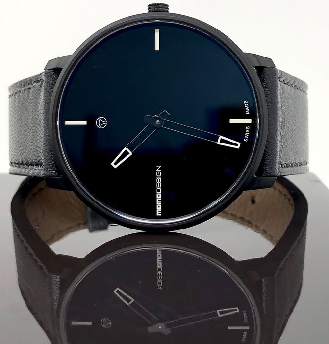 "MomoDesign - Watch Essenziale Heritage Black  ""NO RESERVE PRICE"" - MD6003BK-12 - Herren - BRAND NEW"
