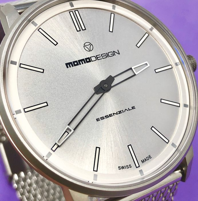 "MomoDesign - Watch Essenziale Slim Silver Stainless Steel  ""NO RESERVE PRICE"" - MD6002SS-10 - Herren - 2019"