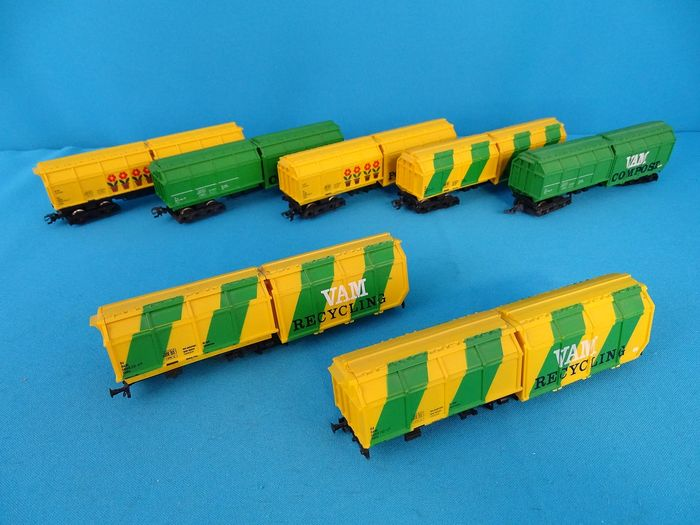 Roco H0 - Freight wagon set - 7-part party with 'VAM' cars - NS