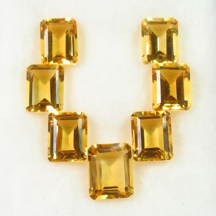 7 pcs Yellow Citrine - 17.80 ct