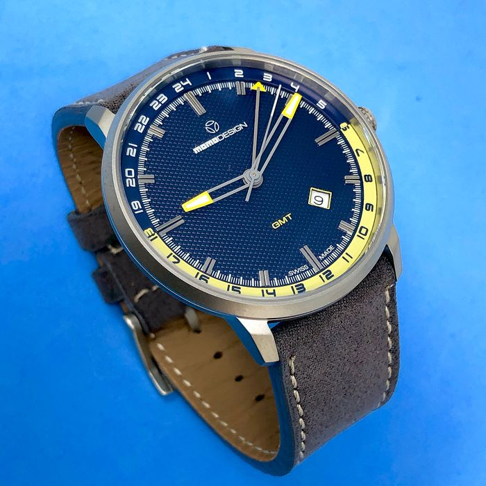MomoDesign - Watch Essenziale GMT Slim Blue - MD6005SS-32 - Men - BRAND NEW