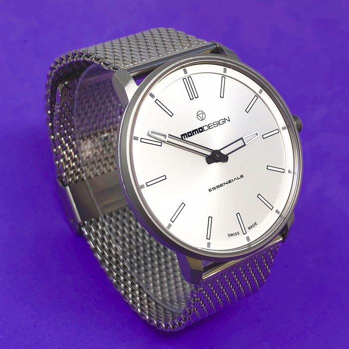 """MomoDesign - Watch Essenziale Slim Silver Stainless Steel  """"NO RESERVE PRICE"""" - MD6002SS-10 - Men - BRAND NEW"""