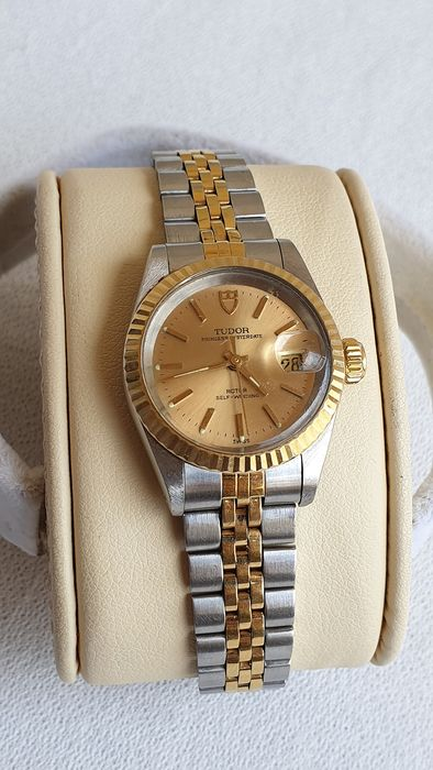 Tudor - Rolex - Princess Oysterdate - Gold/Steel 'NO RESERVE PRICE' - Femme - 1990-1999
