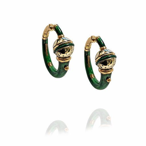 NOUVELLE BAGUE FIRENZE - 18 kt. Gold, Yellow gold - Earrings