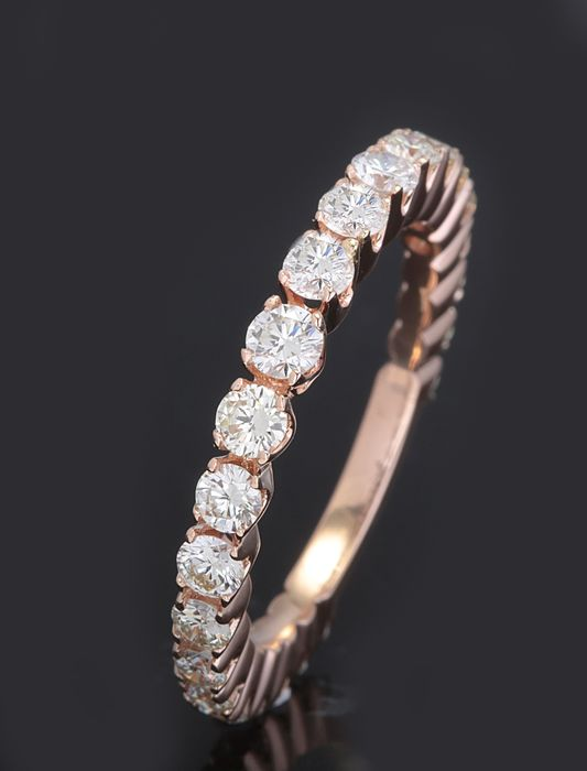 14 kt. Pink gold - Ring - 1.25 ct Diamond