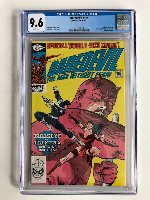 Daredevil #181- Death Of Elektra Bullseye, Kingpin Appearance - CGC Graded 9.6! - Extremely High Grade!!! Key Book!! - Softcover - Erstausgabe - (1982)