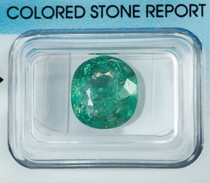"No Reserve - Bluish Green ""Paraiba"" Tourmaline  - 4.85 ct"
