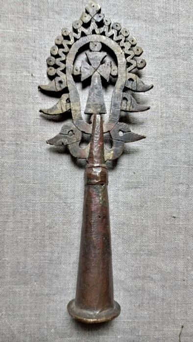 Brass Orthodox procession cross from lalibela. (1) - Brass - Amhara - Central Ethiopia, lalibela