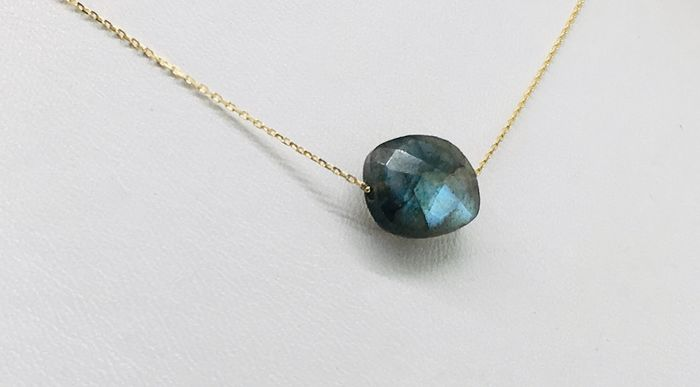 18 kt. Yellow gold - Necklace - 5.50 ct labradorite