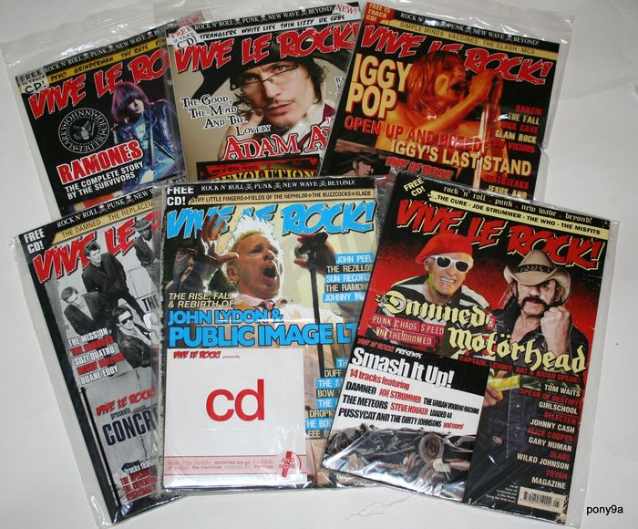 Vive le Rock  - A collection of Mint condition Vive le Rock Magazines. Issues 1 to 59 - Múltiples títulos - Revista(s) - 2010/2018