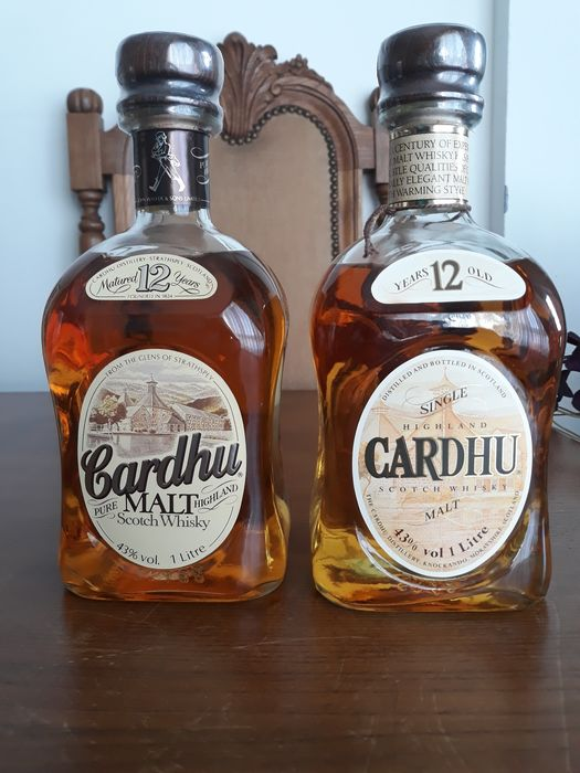 Cardhu (Cardow) 12 years old - b. 1980s - 1.0 Litre - 2 bottles
