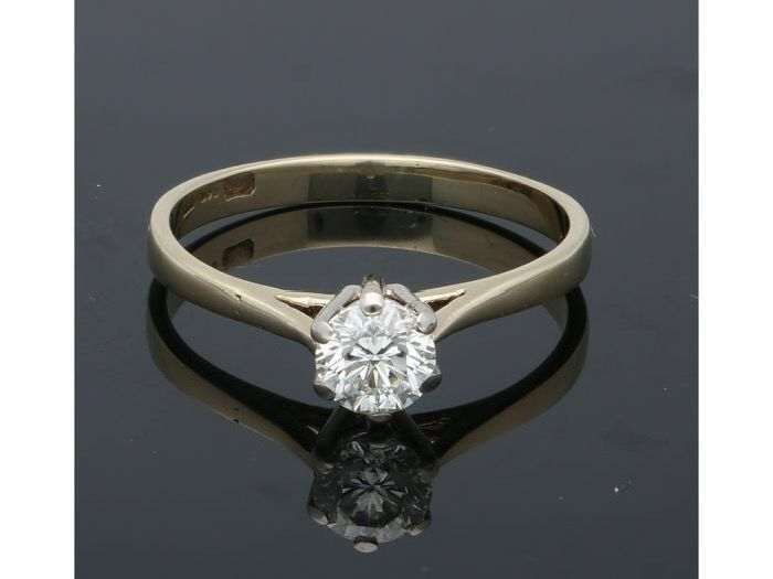 14 karat Gull - Ring - 0.50 ct Diamant