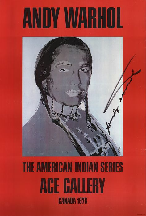 Andy Warhol - American Indian (Red)