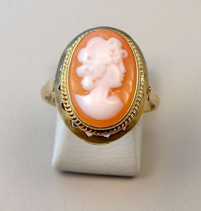 14 K Ouro - Anel cameo