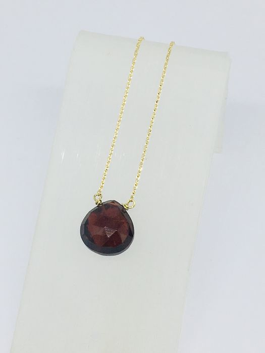 18 kt. Yellow gold - Necklace - 3.15 ct Garnet