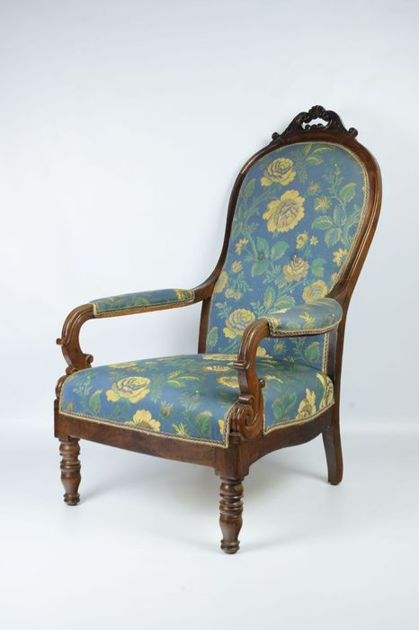 Fauteuil - Louis Philippe - Walnoot - mid '800