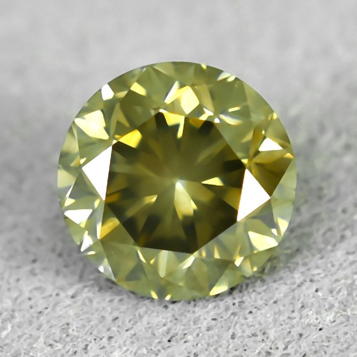 Diamond - 0.60 ct - Brilliant - Natural Fancy Yellowish Brown - I1 - NO RESERVE PRICE